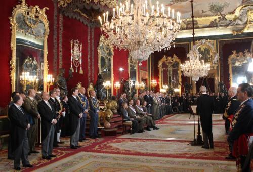 Throne Room at the Royal Palace in Madrid.© Casa de S.M. el Rey / Borja Fotógrafos