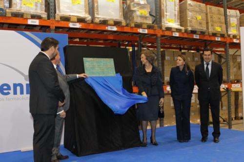 Queen Sofia inaugurates new pharmaceutical facilities in Guadalajara.