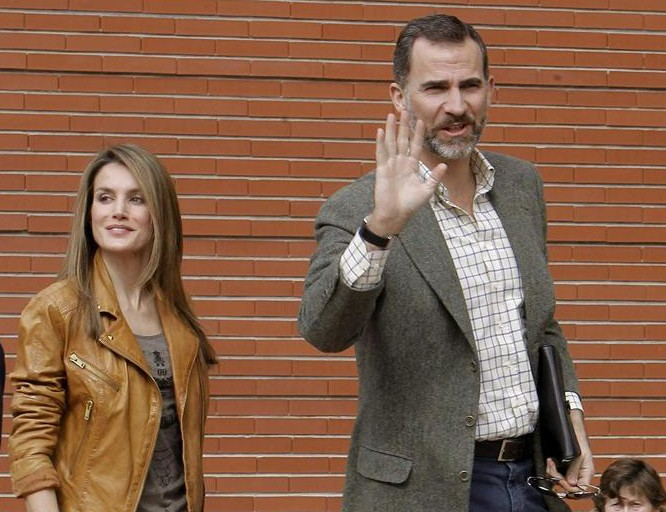 Prince Felipe and Princess Letizia. © Agencia EFE. Posted online by the Royal Household.