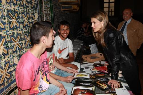 Princess Letizia in Seville.