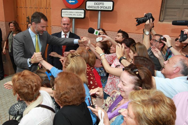 Prince Felipe in Seville today. © Casa de S.M. el Rey / Borja Fotógrafos