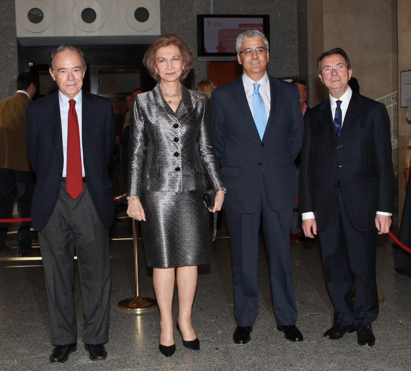 Queen Sofia at the Royal Theater in Madrid this week.