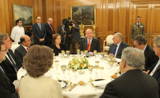 A small meal for President Mujica at Zarzuela Palace.