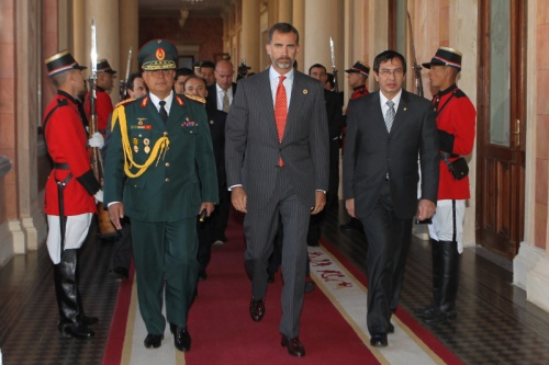 His Royal Highness arrives at Government Palace.