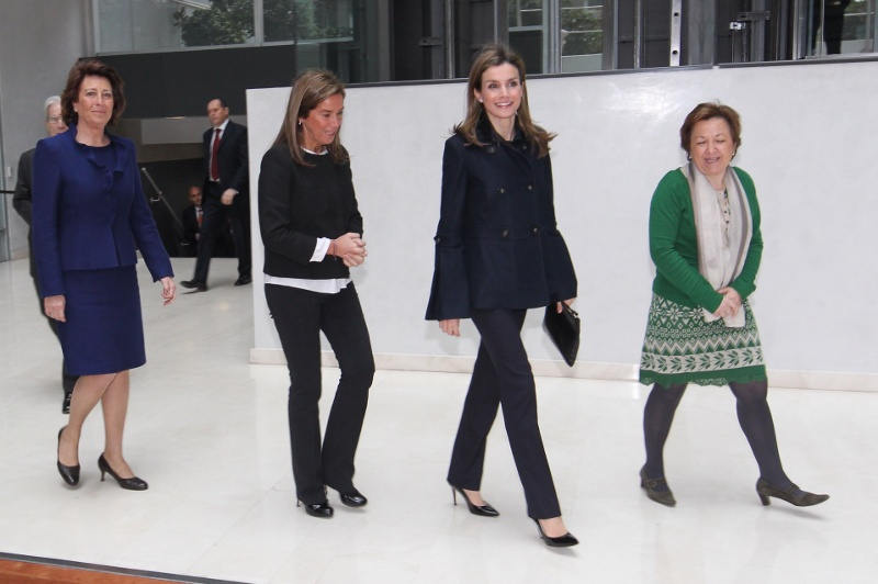 Princess Letizia speaking at a cancer event in Madrid this week. © Casa de S.M. el Rey / Borja Fotógrafos