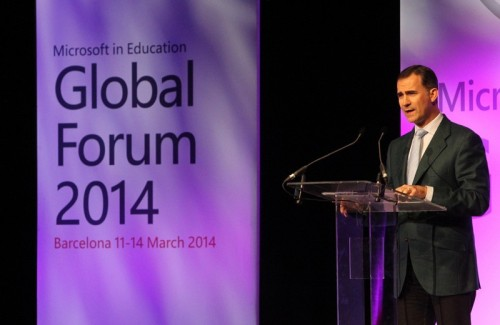 Prince Felipe met with business leaders this week in Barcelona.