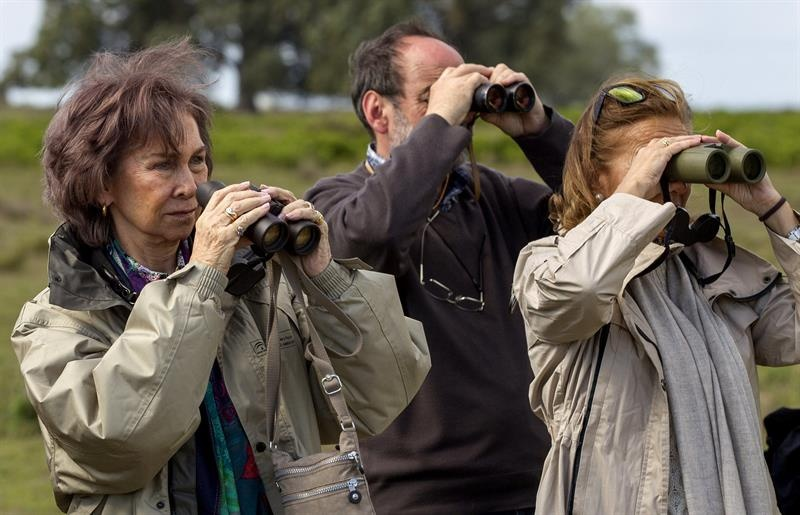 Queen Sofia touring a biological reserve this week. © Agencia EFE