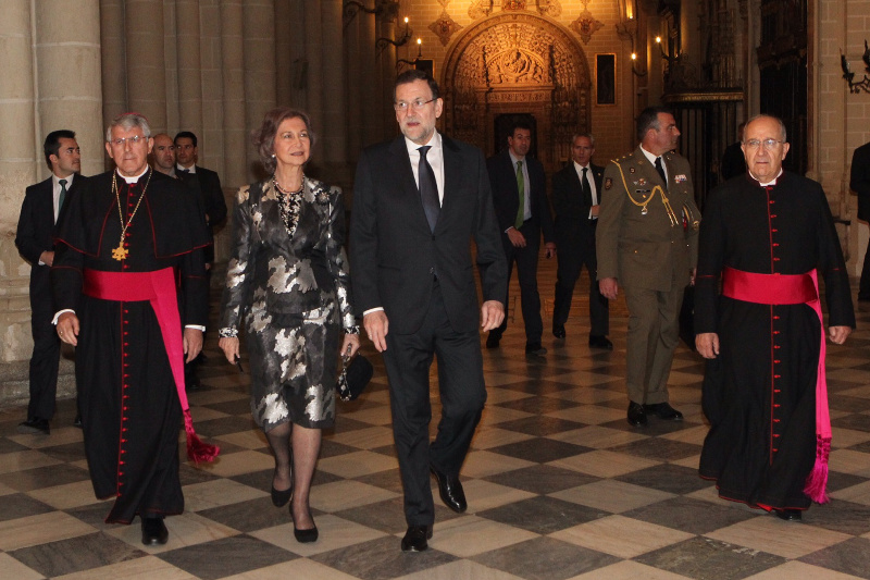 Queen Sofia with Prime Minister Mariano Rajoy.