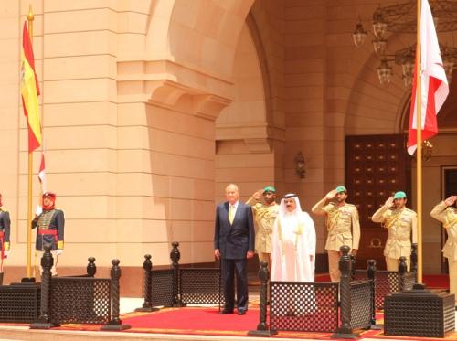 King Juan Carlos with King Sheikh Hamad Bin Isa Al-Khalifa.