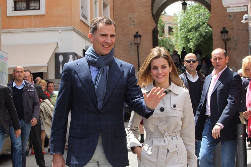 The Prince and Princess of Asturias on a museum visit in Toledo. © Casa de S.M. el Rey / Borja Fotógrafos