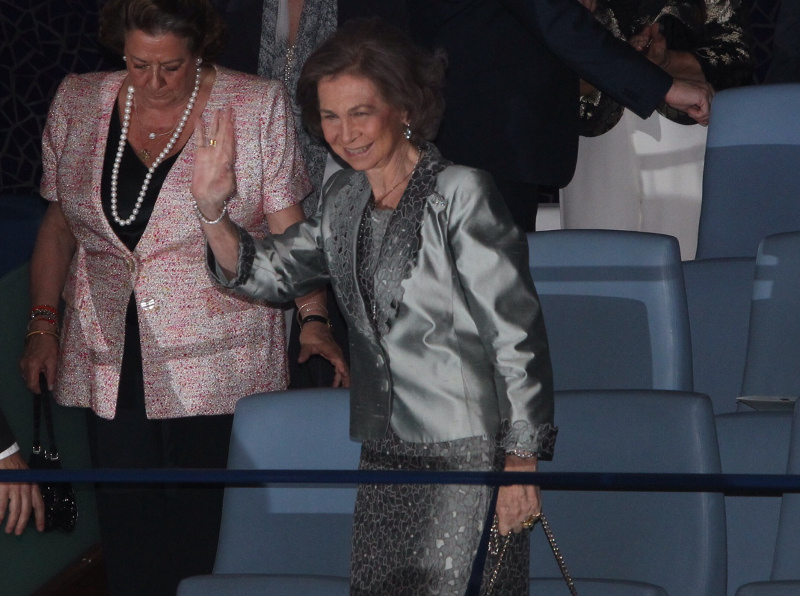 Queen Sofia at the opera in Valencia over the weekend.