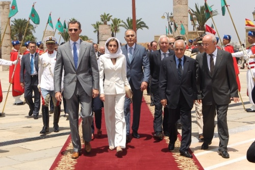 At the Mausoleum of King  Mohammed V.