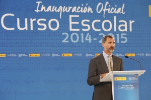 King Felipe opening the school year.