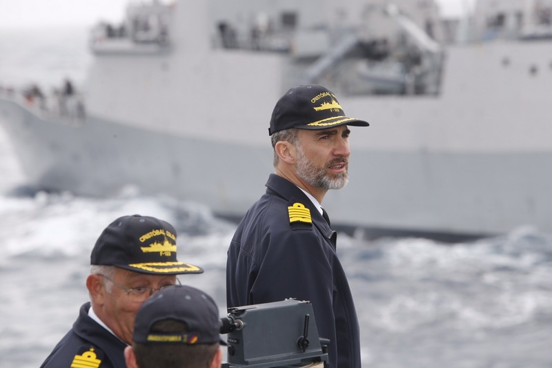 King Felipe inspecting Spanish Armada operations. © Casa de S.M. el Rey