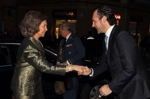 Queen Sofia with Balearic Islands President José Ramón Bauzá. © Casa de S.M. el Rey