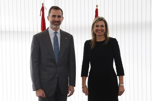 King Felipe with Queen Máxima of the Netherlands. © Casa de S.M. el Rey