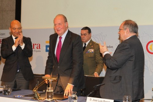King Juan Carlos during an international business promotion meeting in Madrid.  © Casa de S.M. el Rey