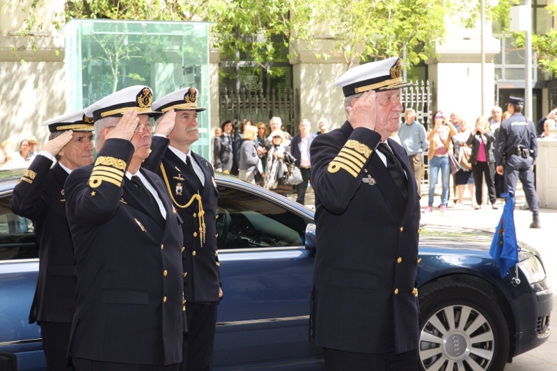 King Juan Carlos at Spanish Armada Headquarters. © Casa de S.M. el Rey