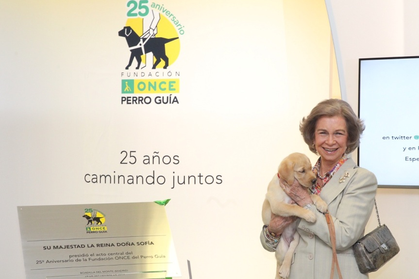 Queen Sofia celebrates guide dog foundation anniversary. © Casa de S.M. el Rey