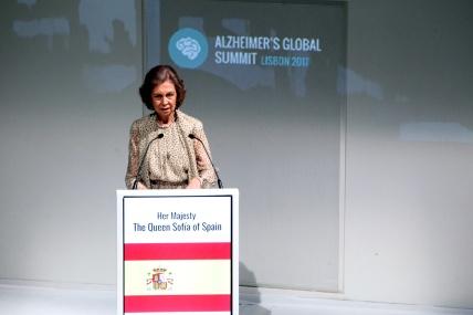 Su Majestad la Reina Doña Sofía durante su intervención